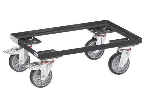 """Der Eurokasten-Roller """"Grey Edition"""" kann Lasten in Eurokästen bis 250 kg tragen."""