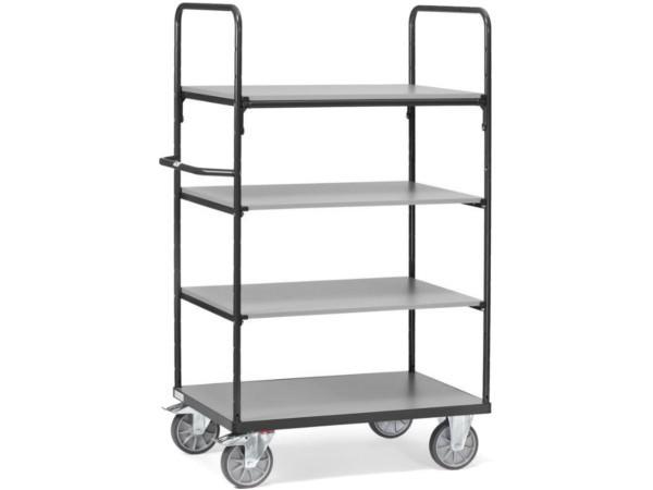 Der praktische Etagenwagen kann Gegenstände verteilt auf 4 Ebenen transportieren.