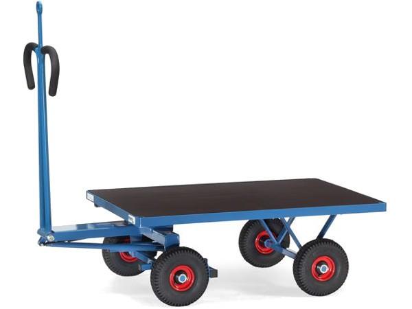 Der Handpritschenwagen kann aufgrund der praktischen Lademaße viele schwere Lasten sicher transportieren.