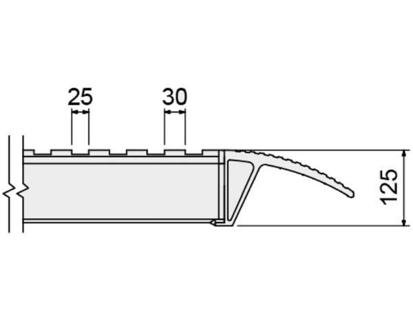 Für Schwerlastrampen vom Typ M105F, M120F und M130F bieten wir eine spezielle Oberfläche an. Diese Oberfläche eignet sich optimal um Fahrzeuge mit Vollgummibereifung zu verladen.