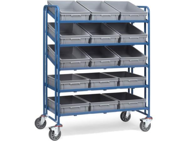 Dieser Transportwagen kann Kleinmaterial mit einer Gesamtlast von 300 kg tragen.