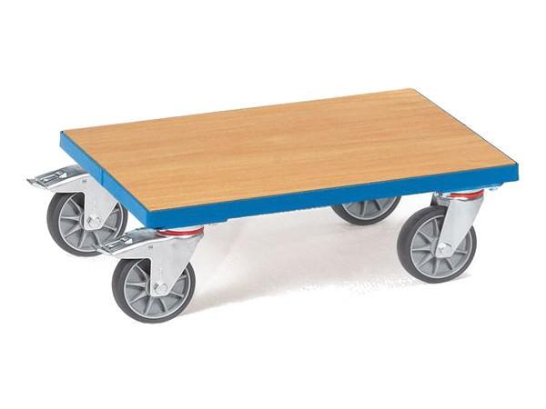 Der Kastenroller ohne Rand kann schwere Lasten bis 250 kg tragen.