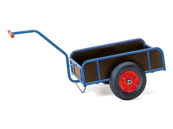 Der praktische 1-Achser Handwagen eignet sich perfekt um viele kleine Lasten sicher von A nach B zu fahren.