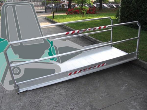 Die Baustellenrampe MPI eignet sich optimal wenn Fahrzeuge oder Fußgänger ein Hindernis überwinden sollen.