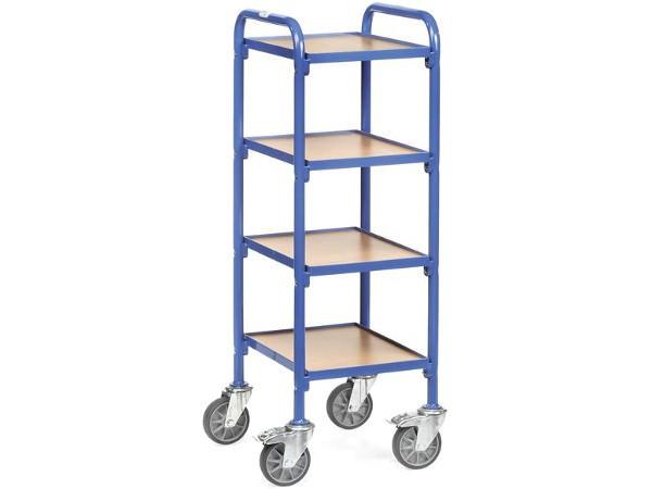 Der schmale Beistellwagen kann bis zu 250 kg Last tragen.