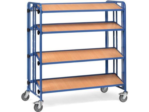 Der beidseitig einsetzbare Montagewagen bietet sehr viel Platz für Kleinmaterialien.