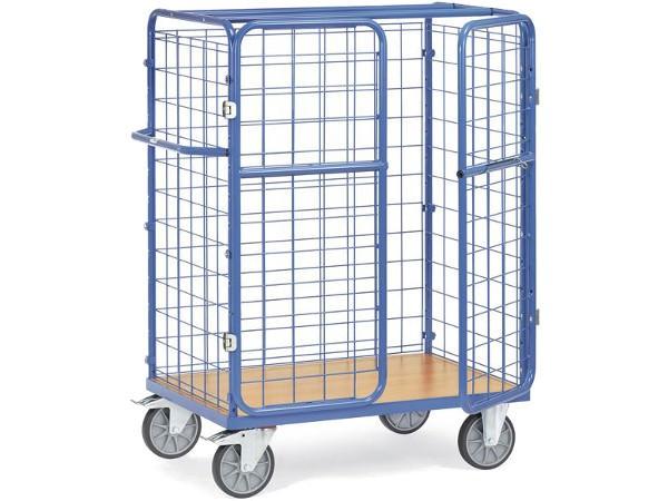Der Paketwagen kann mithilfe eines Vorhängeschloss komplett abgeschlossen werden.