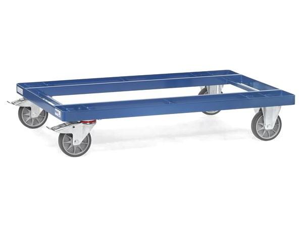 Dieser Palettenwagen ist speziell für Paletten oder Gitterboxen konzipiert.