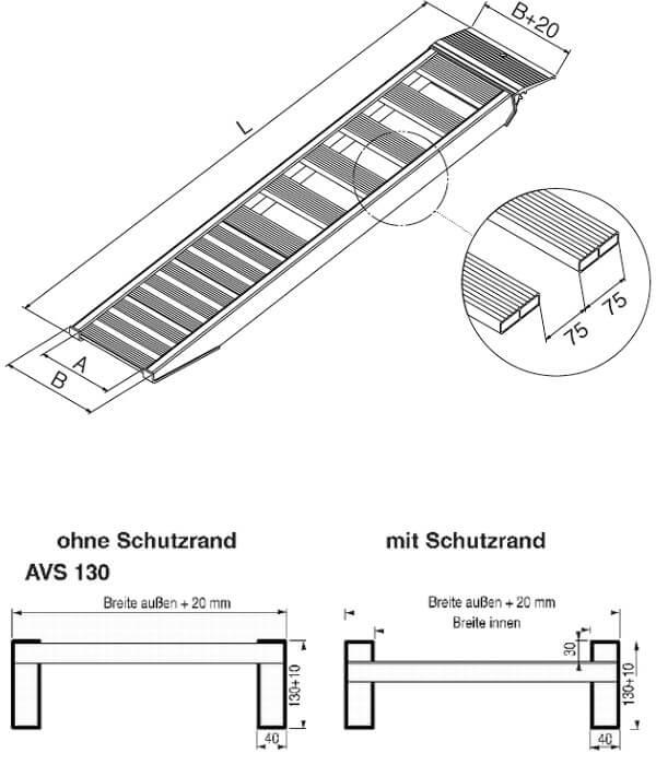 technische-Zeichnung-AVSS-Auffahrrampe-Auffahrschienen130