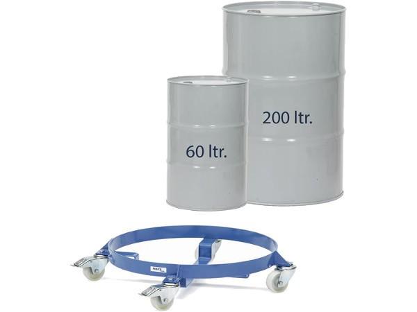 Diese speziellen Fassroller sind konzipiert um 60 bzw. 200 Liter Fässer von A nach B zu transportieren.
