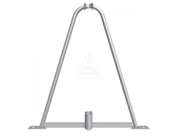 Der robuste Ständer ist speziell für die Verbindung von 2 Mobilzäunen konzipiert.