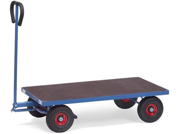 Der Handwagen eignet sich um schwere Lasten bis 500 kg sicher von A nach B zu fahren.