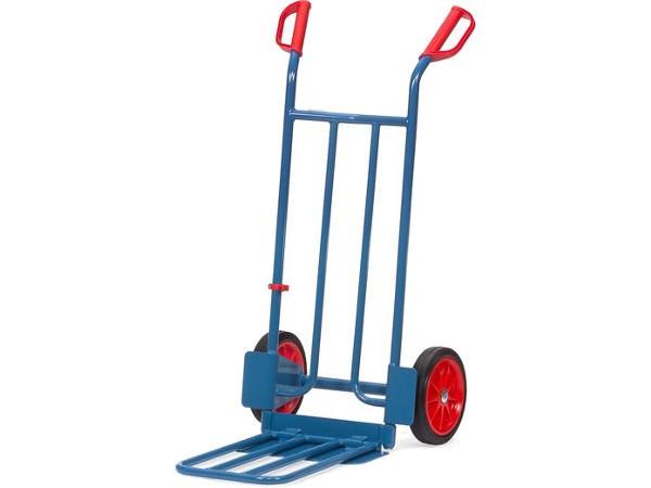 Der Paketkarren mit Vollgummibereifung kann bis zu 250 kg tragen.
