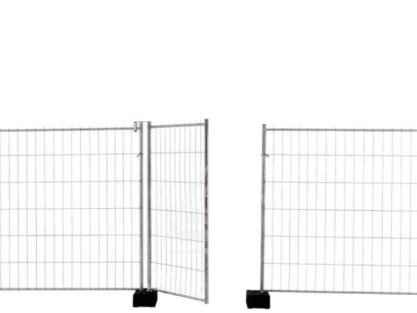 Das Torelement ist die passende Ergänzung für mobile Bauzäune vom Typ Standard.