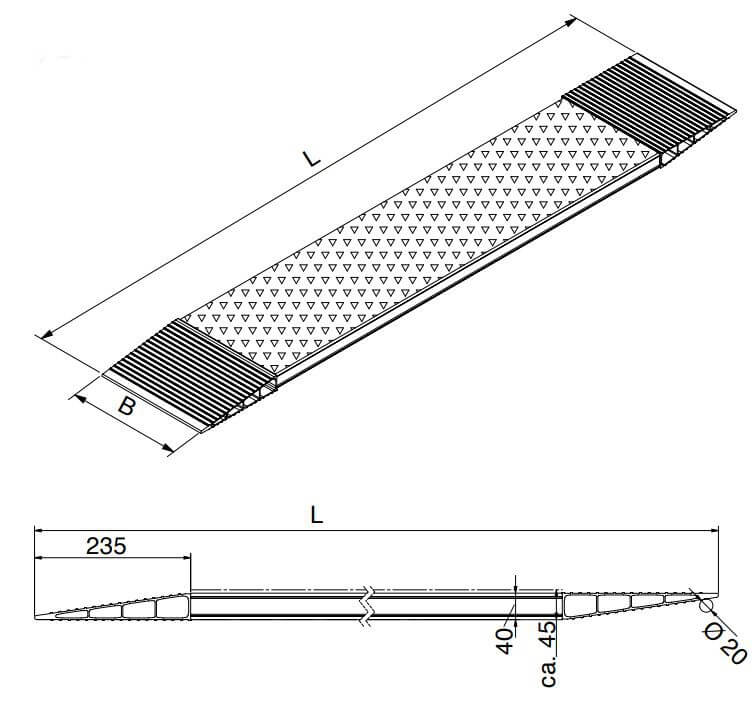 technische-zeichnung-aos-kurzrampe-bordsteinrampe-containeranfahrt-altec-alu