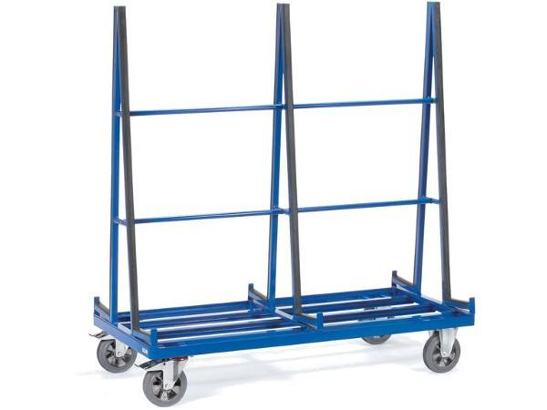 Der Plattenwagen kann auf beiden Seiten genutzt werden.