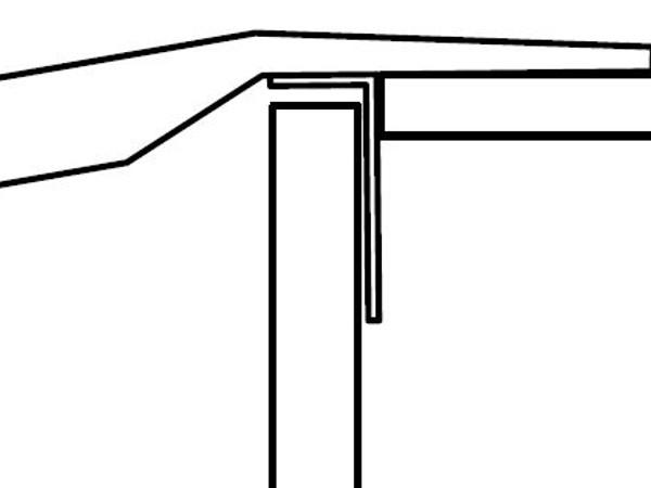 Der Winkel wird zwischen Ladebordwand und Ladefläche geklemmt.
