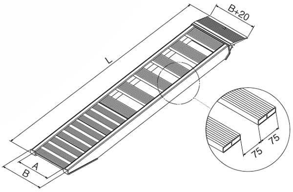 technische-Zeichnung-AVSS-Auffahrrampe-Auffahrschienen
