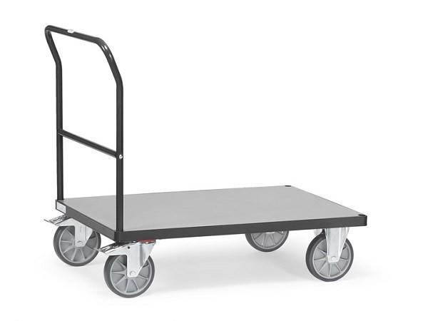 Der Transportwagen mit Schiebebuegel eignet sich optimal um Lasten bis 600 kg transportieren zu können.