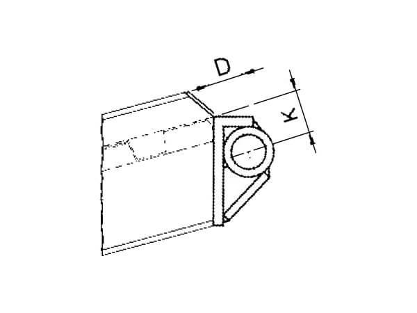 Das Rohrauflager eignet sich gut, wenn Schienen am Fahrzeug oder Anhänger fest montiert werden sollen.