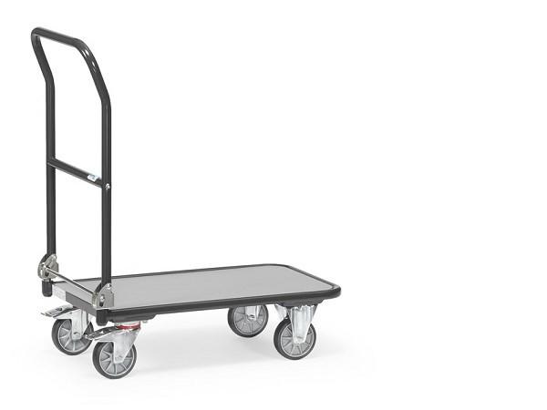 Der praktische Klappwagen von Fetra lässt sich mit nur wenig Kraftaufwand platzsparend zusammenklappen - somit kann der Wagen in kleinen Fahrzeugen transportiert werden.