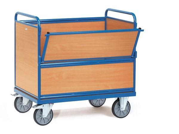 Der Holzkastenwagen ist die stabile und tragfähige Transportmöglichkeit für schwere Lasten bis 600 kg.