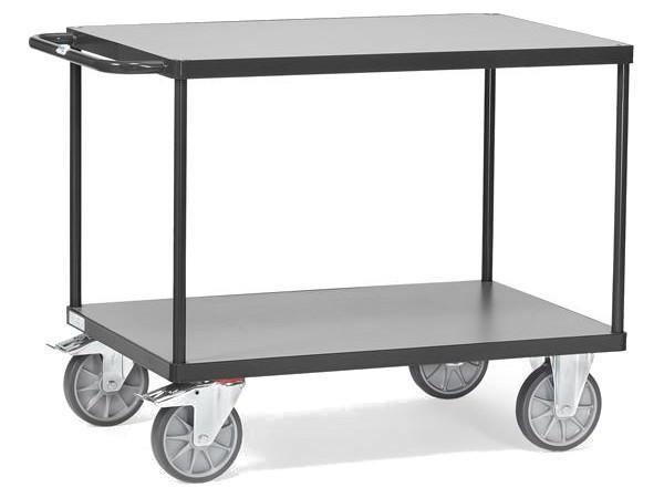 Der Tischwagen Grey Edition kann insgesamt 500 kg tragen.