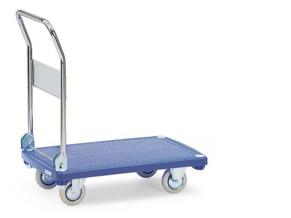 Der Kunststoffplattenwagen eignet sich perfekt um schwere Lasten bis 200 kg von A nach B zu fahren.