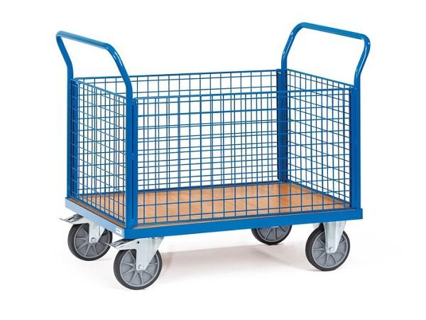 Vierwandwagen dienen zum leichten und sicheren Transport von schweren und unhandlichen Lasten.