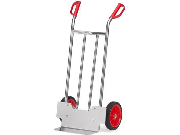 Die Alukarren mit Vollgummibereifung können schwere Lasten bis 150 kg tragen.