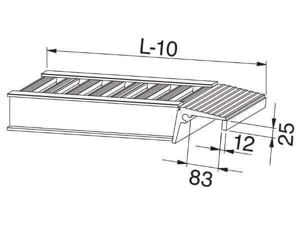 Die kostenfreie Auflagervariante B beinhaltet eine stirnseitige Einhängemöglichkeit.