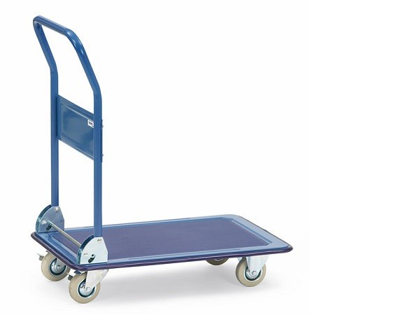 Der praktische Ganzstahlwagen mit Klappfunktion ermöglicht den einfachen Transport von schweren Lasten bis 250 kg.