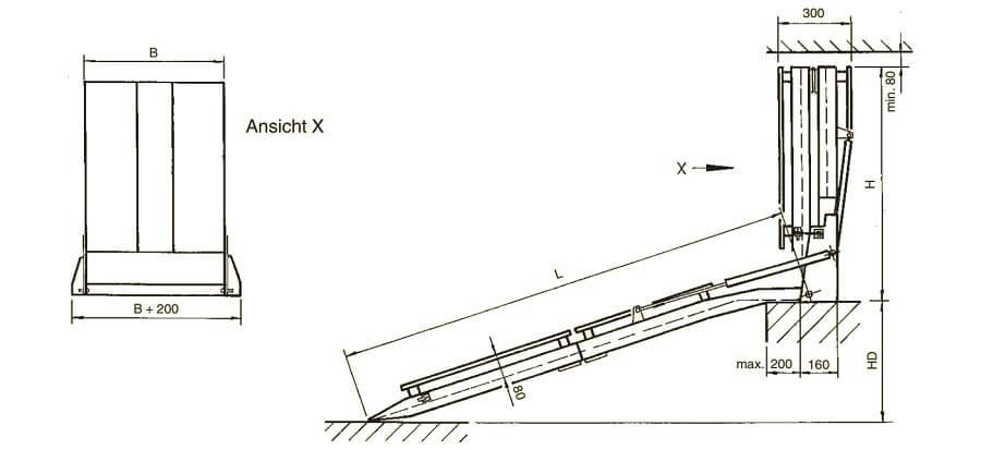 Rollstuhlrampe-Einbaurampe-Rollstuhl-technische-Zeichnung