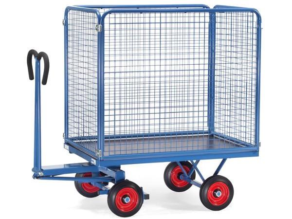 Der praktische Handpritschenwagen ermöglicht den einfachen Transport von Lasten bis 700 kg.
