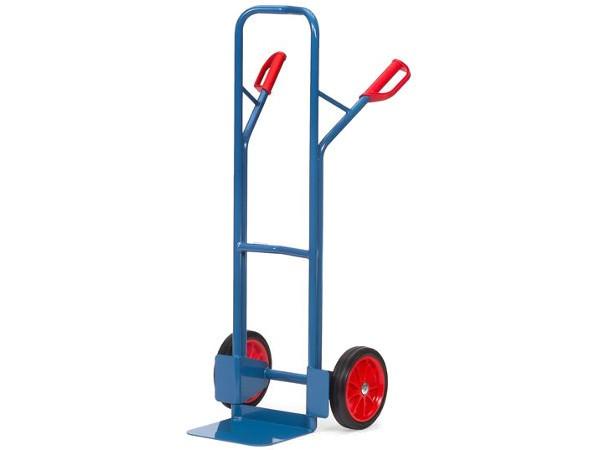 Der Stahlrohrkarren mit Vollgummibereifung eignet sich perfekt um schwere Lasten sicher von A nach B zu befördern.