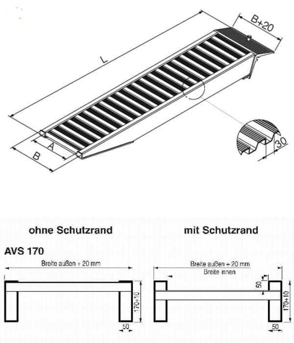 technische-Zeichnung-AVS170-Auffahrrampe-Auffahrschienen