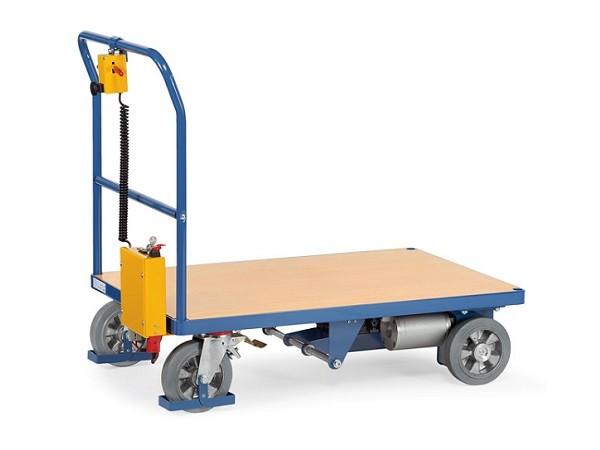 Mithilfe des Elektroantriebs können Lasten bis 500 kg sicher und einfach transportiert werden.