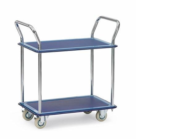 Der praktische Ganzstahlwagen-Tisch eignet sich perfekt zum Transport und als Arbeitsfläche.