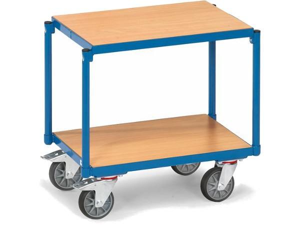 Der robuste Etagenroller kann schwere Lasten sicher von A nach B befördern.