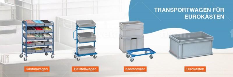 Eurokastentransport - Kastenwagen, Beistellwagen und Eurokästen.