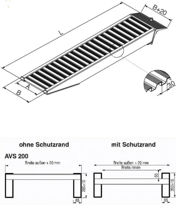 technische-Zeichnung-AVS200-Auffahrrampe-Auffahrschienen