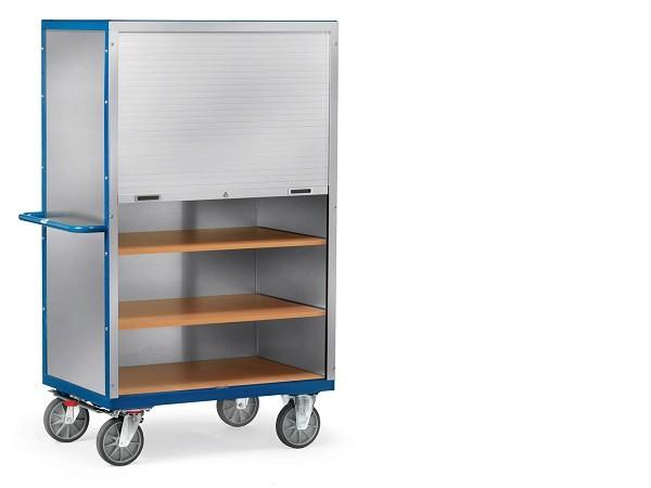 Die Rollladenwagen eignen sich für Lasten bis 750 kg.