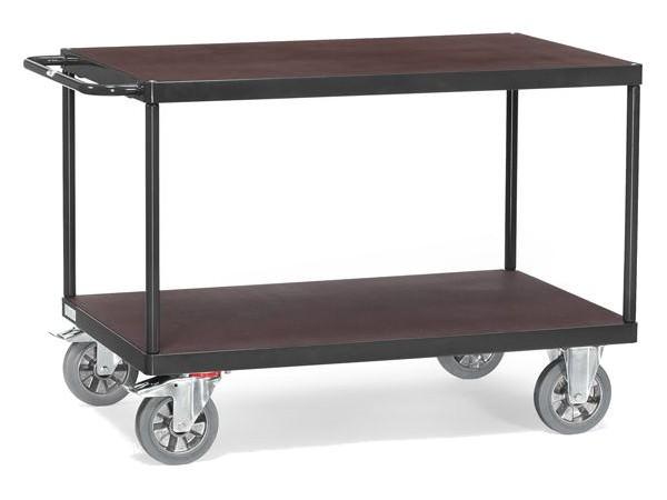 """Der robuste Tischwagen """"Grey Edition"""" kann auf 2 Etagen Lasten bis 1.200 kg tragen."""