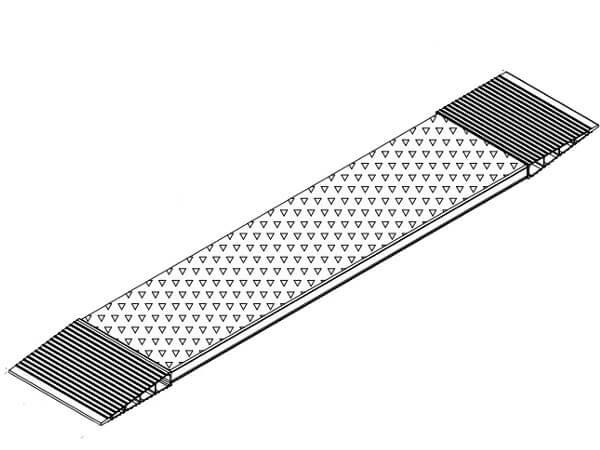 Mithilfe der AOS-K Rampe ist das waagerechte Überqueren kinderleicht möglich.