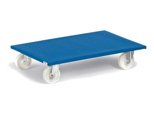 Der Möbelroller mit Polyamidräder ist speziell für glatte Ebenen geeignet. Für unebene Flächen empfehlen wir die Ausführung mit Vollgummiräder.