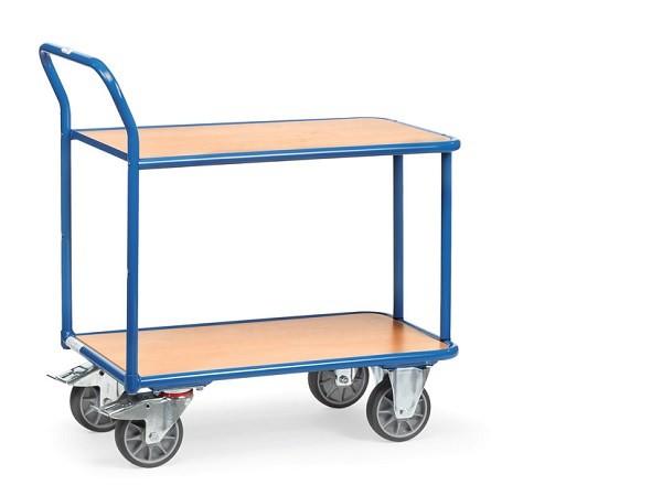 Der extrastarke Tischwagen kann Lasten bis zu 400 kg tragen.