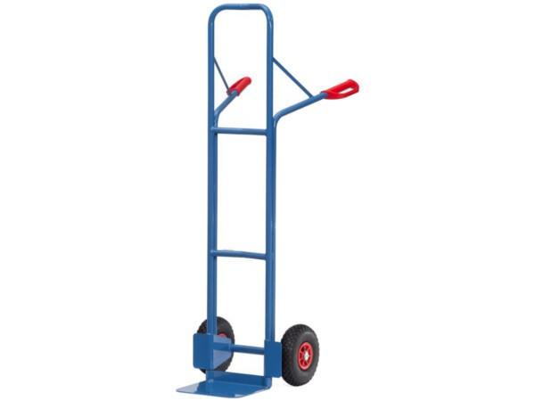 Der robuste Stahlrohrkarren kann Lasten bis 300 kg problemlos von A nach B transportieren.