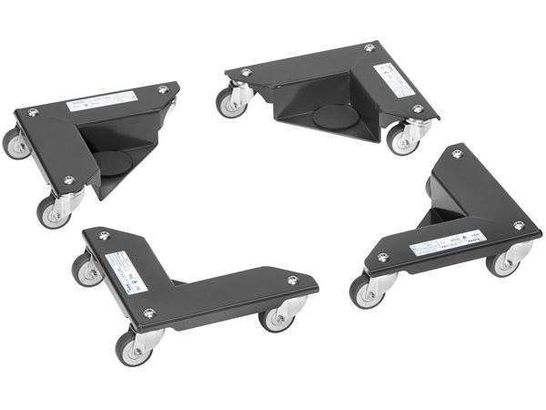 Pro Set erhalten Sie 4 Eckenroller mit einer Tragkraft von 150 kg pro Ecke.