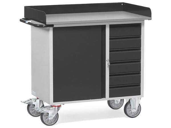 Der Tischwagen Grey Edition kann Lasten bis zu 400 kg problemlos tragen.
