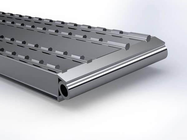 Das Auflager C ist ein Rohrauflager und dient zur festen Installation am Fahrzeug oder Anhaenger.